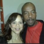 Kirk Nugent and Rosie Perez at the Nuyorican Poets Cafe in New York